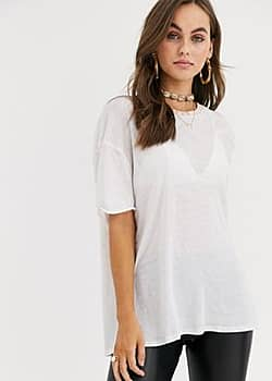 Clarity ringer t-shirt-Pink
