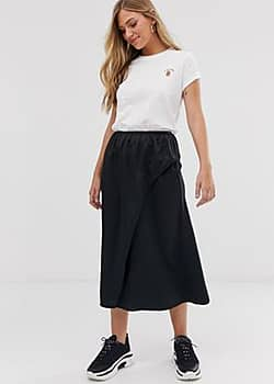 French Connection midaxi skirt-Black