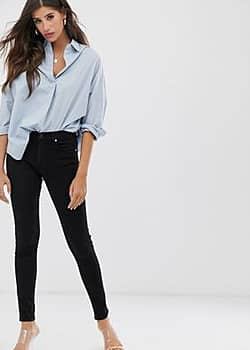 French Connection re-bound skinny jean-Black