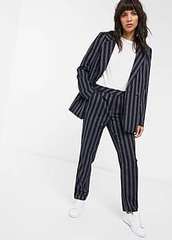 Gestuz Catta pinstripe tailored trousers co-ord-Navy