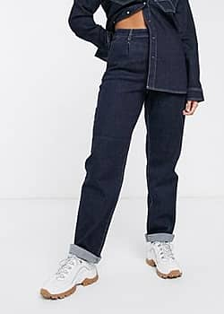 Elenor straight cut chino style jeans co-ord-Navy