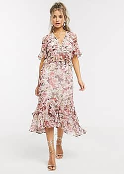 Hope & Ivy ruffle skirt floral co ord-Multi