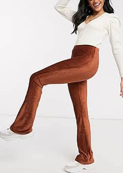 JDY Camille flared trousers in red