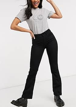 Nikki flared high waisted jeans in black
