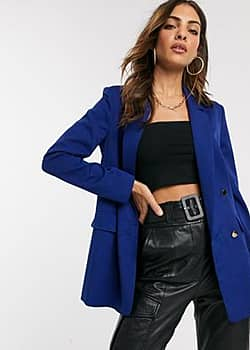 double breasted blazer in navy