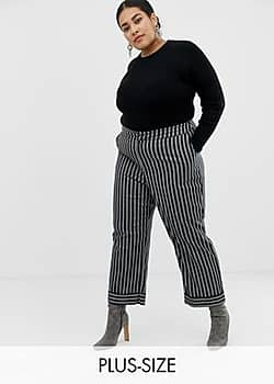 Lost Ink tailored trousers in stripe-Black