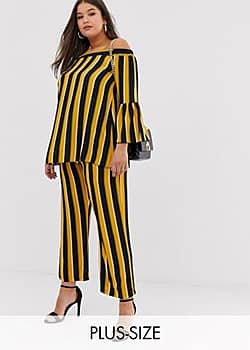 stripe trousers-Multi
