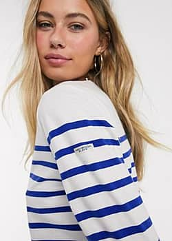 Ams striped long sleeve top-Multi