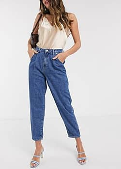 Mango slouch jeans in mid blue