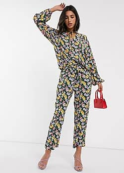 floral co-ord trousers-Multi
