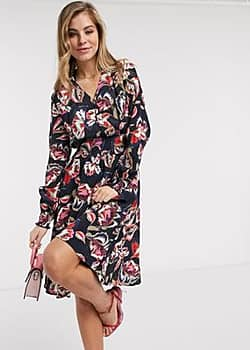 Morgan wrap front all over floral midaxi dress in multi