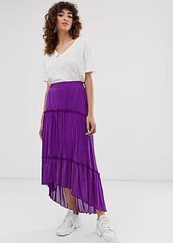 Minimum Moves By tiered maxi skirt-Purple