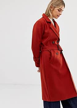 Moves By trench coat-Red