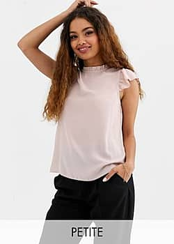New Look frill edge blouse in pink