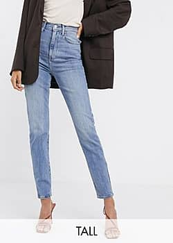New Look relaxed skinny jeans in mid blue