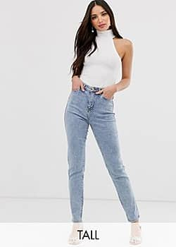 New Look waist enhancing mom jeans in light blue