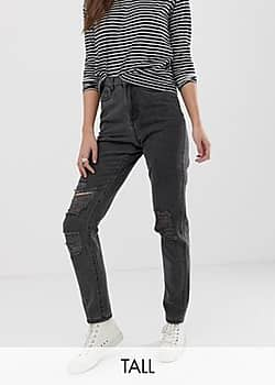 Noisy May distressed mom jean-Black