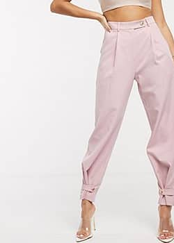 Parallel Lines tailored trousers-Pink