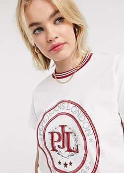 Pepe crest t-shirt in white
