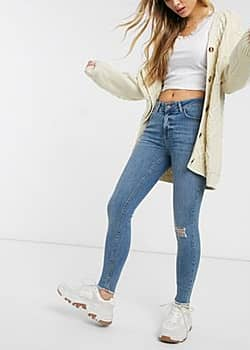 Delly high waisted skinny jeans-Blue