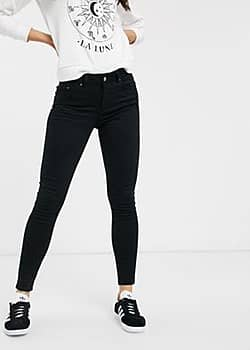 Delly high waisted skinny jeans-Black