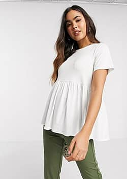 frill t-shirt in white