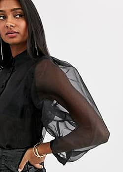 organza shirt in black