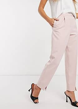 belt detail tailored trouser in pink