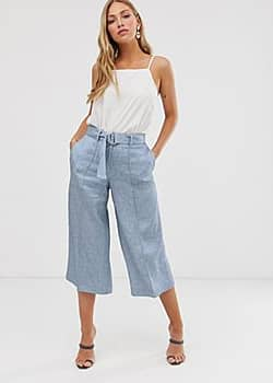 Charlla relaxed culottes-Blue