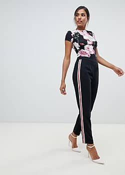 Ted Baker Madlyne trouser with floral detailing-Multi
