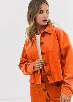 Danijo corduroy jacket co-ord-Orange