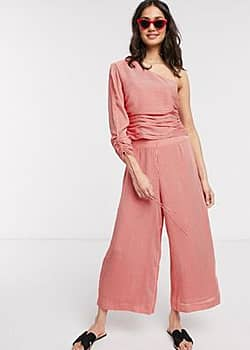 Kym wide leg trousers-Pink