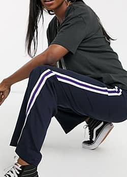 Urban Bliss nola trousers with side stripe-Navy