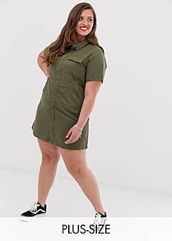Urban Bliss utility mini dress with neck tie detail-Green