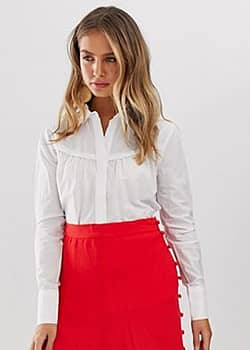 Urban Bliss western detail shirt in white