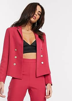 tailored suit blazer in pink