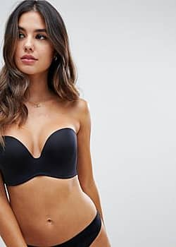 Wonderbra new ultimate strapless bra a - g cup-Black