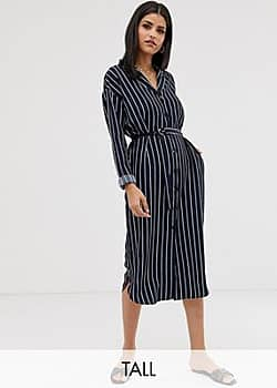 Y.A.S stripe shirt dress-Navy