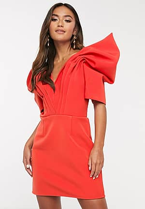 on the level mini dress with statement sleeve