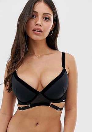 metis bra in black