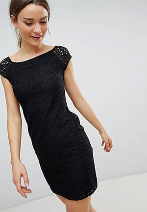 Pencil Dress With Lace Sleeves