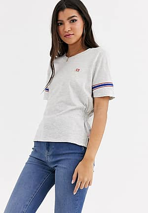 soft rib t-shirt with sporty detailing