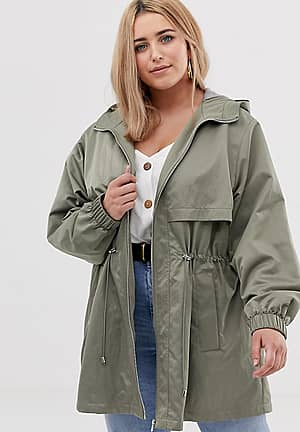 ASOS DESIGN Curve lightweight parka with jersey lining