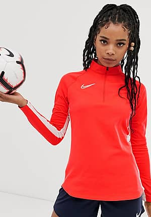 Nike Football academy drill top in red