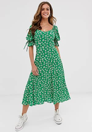 Melina floral mIdi dress