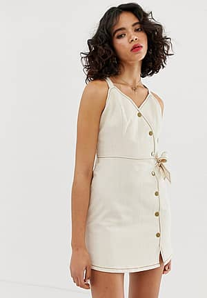 cami dress with button detail