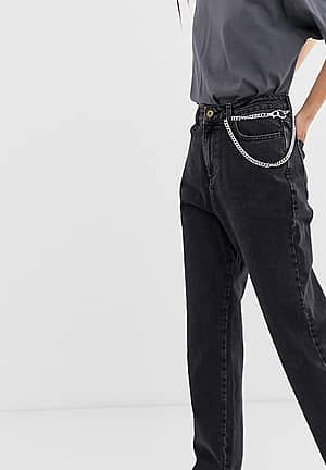 x005 straight leg jeans in washed black