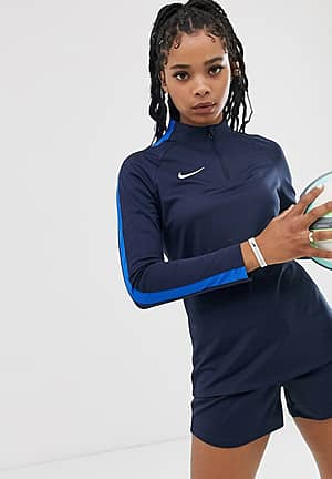 Nike Football academy drill top in blue
