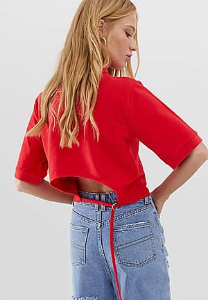 polo top with open back