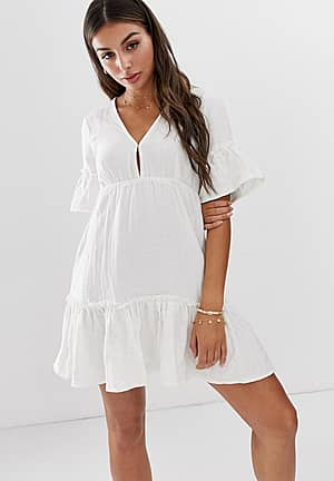 x Sincerely Jules Lovers Wish cotton beach dress in cream